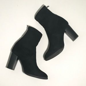 Black Suede Sock Booties